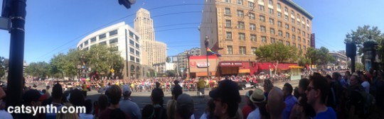 Pride Panorama at Market and 7th Streets