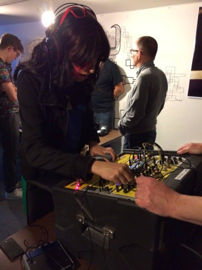 AC at modular synth meetup